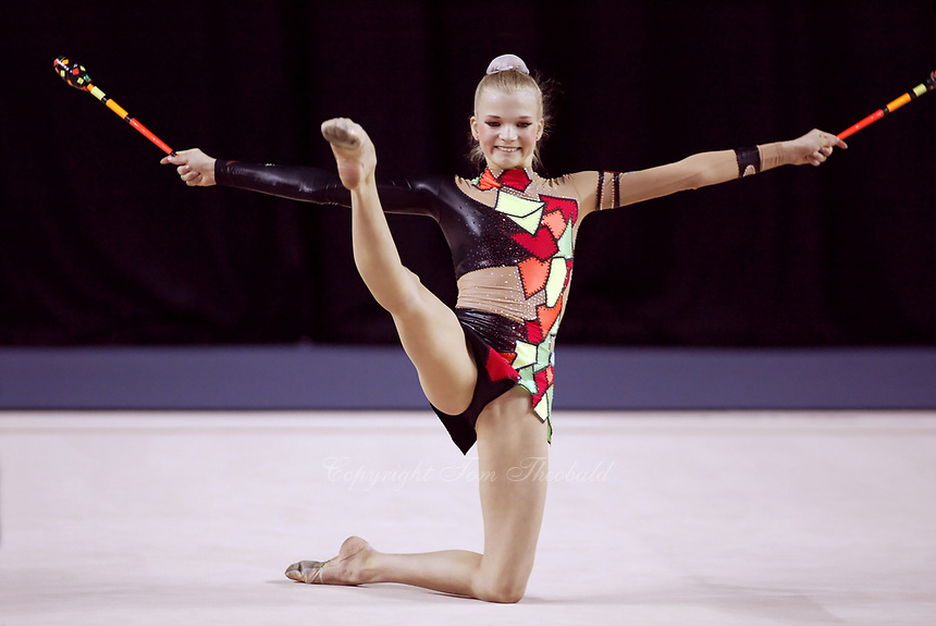 September 27, 2003; Budapest, Hungary; OLGA KAPRANOVA of Russia  performs at 2003 World Championships.