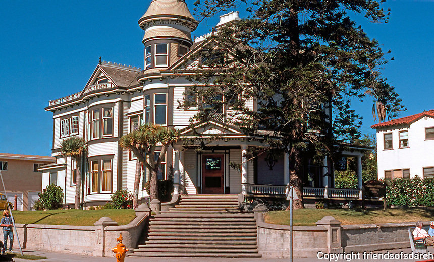 San Diego: Quartermass House, 1896. Front elevation. Built by developer Rueben Quartermass.  Victorian style. Photo 1978.
