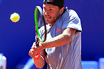 24th April 2019, Real Club de Tenis, Barcelona, Spain; ATP 500, Barcelona Open Banc Sabadell, day 3; picture show Lucas Pouille (FRA) vs David Ferrer (ESP)