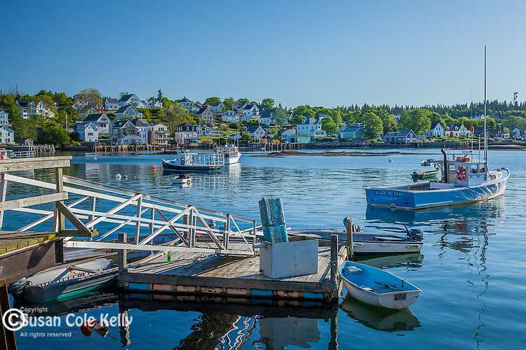 Lobster fishing boats in Stonington, Maine, USA