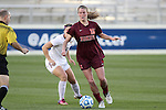 10 November 2013: Virginia Tech's Ashley Meier (15) and Florida State's Michaela Hahn (8). The Florida State University Seminoles played the Virginia Tech Hokies at WakeMed Stadium in Cary, North Carolina in a 2013 NCAA Division I Women's Soccer match and the championship game of the Atlantic Coast Conference tournament. Florida State won the game 1-0.