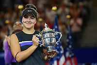 Bianca Andreescu Premiazione <br /> Flushing Meadows 08/09/2019 US Open<br /> Tennis Grande Slam 2018 <br /> Photo Antoine Couvercelle /Panoramic / Insidefoto <br /> ITALY ONLY
