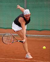 Netherlands, Amstelveen, August 21, 2015, Tennis,  National Veteran Championships, NVK, TV de Kegel,  Lady's 45+,   Annemiek Wissink<br /> Photo: Tennisimages/Henk Koster
