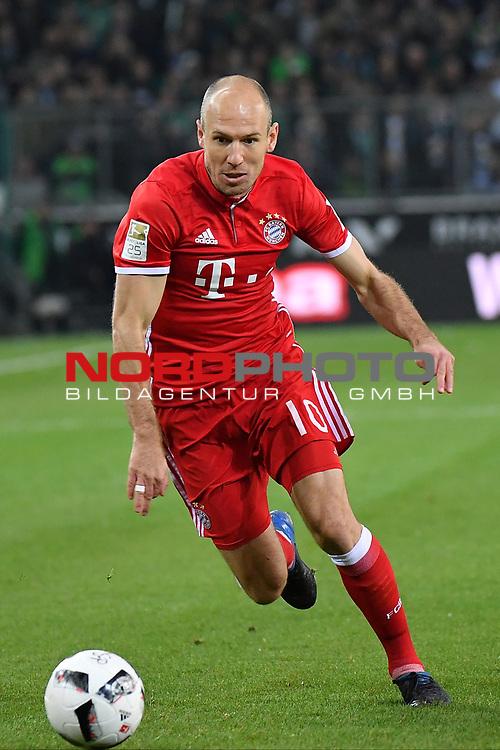 19.03.2017, Borussia-Park, Moenchengladbach, GER, 1.FBL., Borussia M&ouml;nchengladbach. vs. FC Bayern Muenchen<br /> <br /> im Bild / picture shows: <br /> Arjen Robben (FC Bayern Muenchen #10),<br /> Foto &copy; nordphoto / Meuter