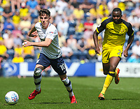 Preston North End's Josh Harrop gets away from Burton Albion's Hope Akpan<br /> <br /> Photographer Alex Dodd/CameraSport<br /> <br /> The EFL Sky Bet Championship - Preston North End v Burton Albion - Sunday 6th May 2018 - Deepdale Stadium - Preston<br /> <br /> World Copyright &copy; 2018 CameraSport. All rights reserved. 43 Linden Ave. Countesthorpe. Leicester. England. LE8 5PG - Tel: +44 (0) 116 277 4147 - admin@camerasport.com - www.camerasport.com