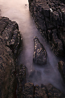 Ocean tide washing among rocks, Elgol, Isle of Skye, Scotland
