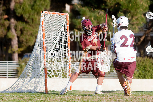 Los Angeles, CA 03/15/11 - Will Laurel (Texas State #7) and Nolan Smith (LMU #22) in action during the Texas State-LMU game at LMU's Leavey Field.