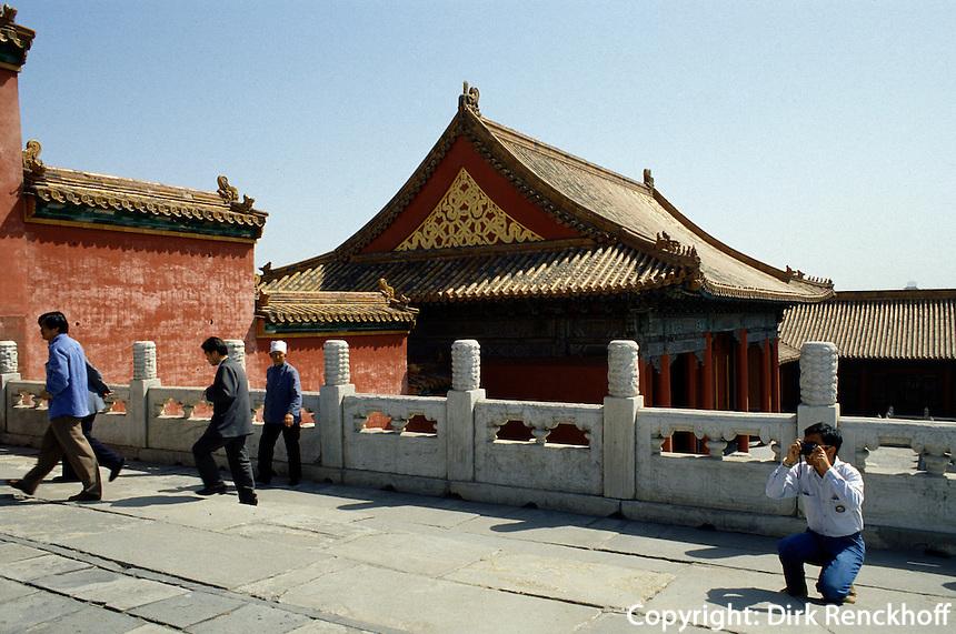 China, Kaiserpalast von Peking, Pavillon bei Halle der höchsten Harmonie, Unesco-Weltkulturerbe
