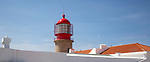 Lighthouse Cabo do Sao Vicente, Cape Vincent, Algarve, Portugal most south westerly point of Europe