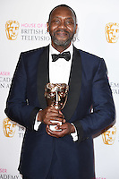 Sir Lenny Henry<br /> in the winners room at the 2016 BAFTA TV Awards, Royal Festival Hall, London<br /> <br /> <br /> &copy;Ash Knotek  D3115 8/05/2016