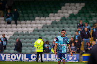 Paris Cowan-Hall of Wycombe Wanderers looks dejected at full time of the Sky Bet League 2 match between Yeovil Town and Wycombe Wanderers at Huish Park, Yeovil, England on 8 October 2016. Photo by Mark  Hawkins / PRiME Media Images.