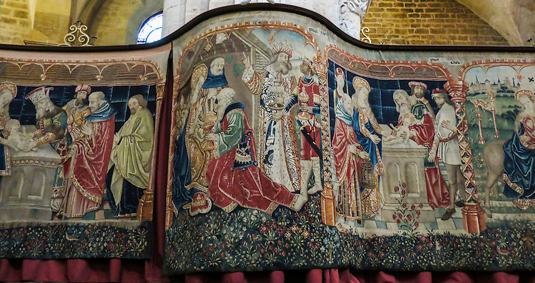 VMI Vincentian Heritage Tour: The 15th century tapestries inside the Collégiale Basilique Notre-Dame in Beaune, France seen Wednesday, June 29, 2016. (DePaul University/Jamie Moncrief)