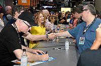 FOX FAN FAIR AT SAN DIEGO COMIC-CON© 2019: L-R: THE SIMPSONS Supervising Animation Director Mike Anderson and Executive Producer Stephanie Gillis during the THE SIMPSONS booth signing on Saturday, July 20 at the FOX FAN FAIR AT SAN DIEGO COMIC-CON© 2019. CR: Alan Hess/FOX © 2019 FOX MEDIA LLC