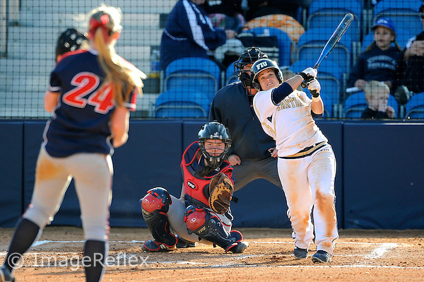 13 February 2010:  FIU's Brie Rojas (24) bats as the FIU Golden Panthers defeated the University of Illinois (Chicago) Flames, 2-1, at the University Park Stadium in Miami, Florida.