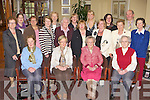 Killarney Soroptimist's presenting cheques to South West Councilling Centre, Fr Michael Howe chaity in Chile and Kerry Emigrants Support in the Gleneagle Hotel Killarney on Tuesday evening front row l-r: June Leahy, Noreen O'Sullivan, Sheila O'Donoghue, Elizabeth McCarthy. Back row: Marie O'Doherty, Sarah O'Brien, Sheila Casey, Catherine Casey, Ann O'Connor, Diane Howe, Maura Horan, Peggy Richart, Orla Howe, Teresa Irwin, Ann Lucey, Anne O'Leary, Jackie Foley and Catherine Mullins