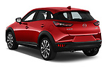 Car pictures of rear three quarter view of 2019 Mazda CX-3 Skycruise 5 Door SUV Angular Rear