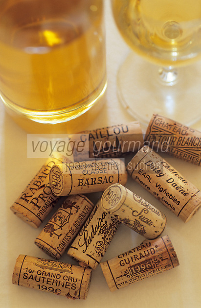 Europe/France/Aquitaine/33/Gironde/Sauternais/Barsac: La maison du Sauternes - Dégustation des vins de 1996 et bouchons