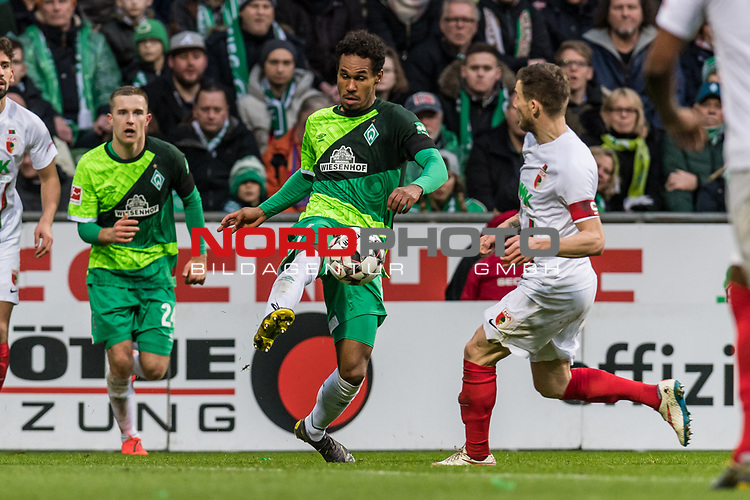 10.02.2019, Weserstadion, Bremen, GER, 1.FBL, Werder Bremen vs FC Augsburg<br /> <br /> DFL REGULATIONS PROHIBIT ANY USE OF PHOTOGRAPHS AS IMAGE SEQUENCES AND/OR QUASI-VIDEO.<br /> <br /> im Bild / picture shows<br /> Theodor Gebre Selassie (Werder Bremen #23), <br /> <br /> Foto © nordphoto / Ewert