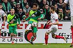 10.02.2019, Weserstadion, Bremen, GER, 1.FBL, Werder Bremen vs FC Augsburg<br /> <br /> DFL REGULATIONS PROHIBIT ANY USE OF PHOTOGRAPHS AS IMAGE SEQUENCES AND/OR QUASI-VIDEO.<br /> <br /> im Bild / picture shows<br /> Theodor Gebre Selassie (Werder Bremen #23), <br /> <br /> Foto © nordphoto / Ewert