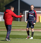 Pedro Caixinha and Kenny Miller