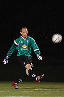 Crystal Palace goalkeeper Matt Nelson (27). Crystal Palace FC USA of Baltimore (USL2) defeated the New York Red Bulls (MLS) 2-0 during a Lamar Hunt US Open Cup third round match at Lawrence E. Knight Stadium in Annapolis, Maryland, on July 01, 2008.