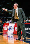University of Wisconsin head coach Brad Soderberg during the University of Milwuakee game at the Kohl Center on 12/16/00 in Madison, WI.  The Badgers beat Milwaukee 55-47. (Photo by David Stluka)