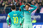 FC Barcelona's forward Leo Messi and forward Neymar Santos Jr reacts during the match of Copa del Rey between Atletico de  Madrid and Futbol Club Barcelona at Vicente Calderon Stadium in Madrid, Spain. February 1st 2017. (ALTERPHOTOS/Rodrigo Jimenez)