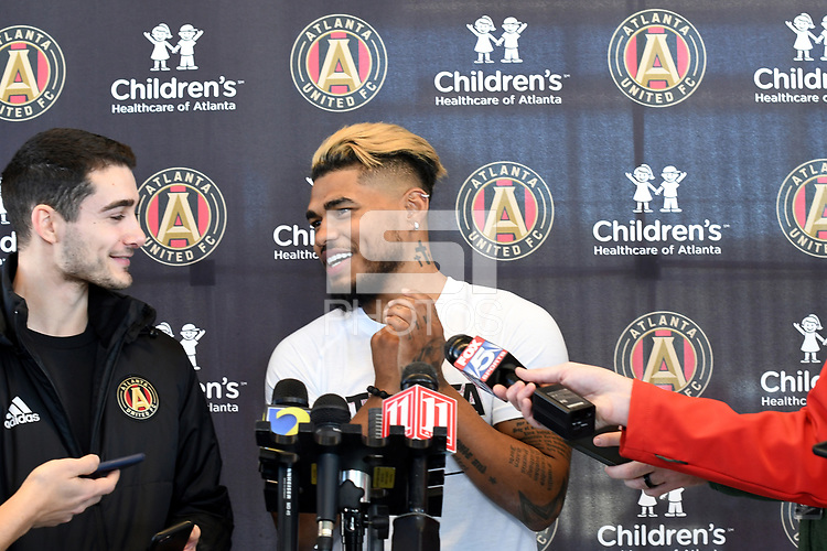 Josef MartinezAtlanta, Georgia - Wednesday, January 16, 2019. Atlanta United manager Frank de Boer runs preseason training session at the team's Children's Healthcare Training Center. Josef Martinez comments on his five-year contract extension.