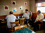 June 7, 2019 : Horsemen share a coffee and chat in the track kitchen on the backside as horses prepare for the Belmont Stakes on Belmont Stakes Festival Weekend at Belmont Park in Elmont, New York. Scott Serio/Eclipse Sportswire/CSM