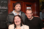 Alan Fay, Joyce Phillips and John Paul celebrating New Years Eve in Hogs and Heiffers...(Photo credit should read www.newsfile.ie)....This Picture has been sent you under the conditions enclosed by:.Newsfile Ltd..The Studio,.Millmount Abbey,.Drogheda,.Co Meath..Ireland..Tel: +353(0)41-9871240.Fax: +353(0)41-9871260.GSM: +353(0)86-2500958.email: pictures@newsfile.ie.www.newsfile.ie.