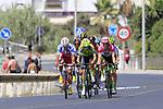 Benjamin King (USA) Team Dimension Data, Nikita Stalnov (KAZ) Astana Pro Team, Polka Dot Jersey  Luis Angel Mat&eacute; (ESP) Cofidis, Jelle Wallays (BEL) Lotto-Soudal, Lars Boom (NED) LottoNL-Jumbo, Oscar Cabedo Carda (ESP) Burgos BH, Aritz Bagues (ESP) Euskadi-Murias and Ben Gastauer (LUX) AG2R La Mondiale form the break at the start of Stage 4 of the La Vuelta 2018, running 162km from Velez-Malaga to Alfacar, Sierra de la Alfaguara, Andalucia, Spain. 28th August 2018.<br /> Picture: Eoin Clarke   Cyclefile<br /> <br /> <br /> All photos usage must carry mandatory copyright credit (&copy; Cyclefile   Eoin Clarke)