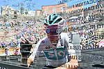Chris Froome (GBR) Team Sky signs on before the start of Stage 4 a 202km very hilly stage running from Catania to Caltagirone, Sicily, Italy. 8th May 2018.<br /> Picture: LaPresse/Gian Mattia D'Alberto | Cyclefile<br /> <br /> <br /> All photos usage must carry mandatory copyright credit (&copy; Cyclefile | LaPresse/Gian Mattia D'Alberto)