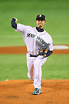 Hisashi Iwakuma (Mariners), <br /> NOVEMBER 14, 2014 - Baseball : <br /> 2014 All Star Series Game 2 <br /> between Japan and MLB All Stars <br /> at Tokyo Dome in Tokyo, Japan. <br /> (Photo by YUTAKA/AFLO SPORT)[1040]