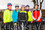 MEMORIAL CYCLE: Taking part in the Jimmy Duffy memorial cycle at Blennerville on Saturday were Fiona Cooke, Morna O'Halloran, Colette Shortt, Lena Nolan, Sheila Kelley