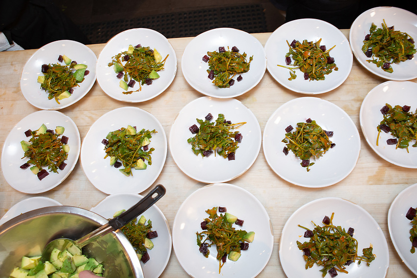New York, NY - May 1, 2018:  Chef Pati Jinich and  her team present a Cinco de Mayo dinner at the James Beard House in Greenwich Village.<br /> <br /> CREDIT: Clay Williams for The James Beard Foundation.<br /> <br /> &copy; Clay Williams / http://claywilliamsphoto.com
