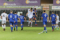 Pictured: Joe Lewis and Ben Cabango of Swansea (C). Tuesday 01 May 2018<br /> Re: Swansea U19 v Cardiff U19 FAW Youth Cup Final at the Liberty Stadium, Swansea, Wales, UK