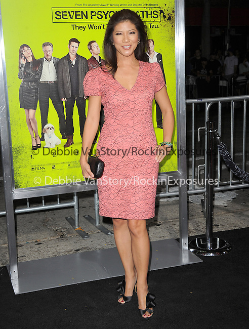 Julie Chen at The CBS Films L.A. Premiere of Seven Psychopaths Premiere held at The Bruin Theatre in Westwood, California on October 01,2012                                                                               © 2012 Hollywood Press Agency