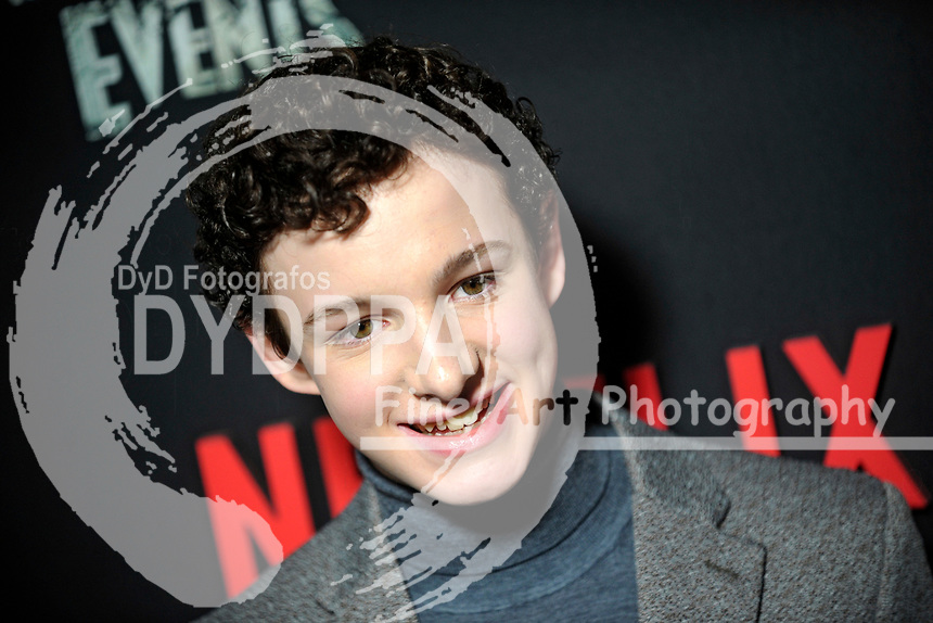 Louis Hynes bei der Premiere der zweiten Staffen der Netflix TV-Serie 'A Series of Unfortunate Events / Eine Reihe betrüblicher Ereignisse' im Metrograph. New York, 29.03.2018