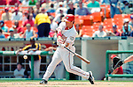 30 June 2005: Brad Wilkerson, outfielder for the Washington Nationals, at bat during a game against the Pittsburgh Pirates. The Nationals defeated the Pirates 7-5 to sweep the 3-game series at RFK Stadium in Washington, DC.  Mandatory Photo Credit: Ed Wolfstein