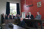 Barmote Court. Moot Hall Wirksworth Derbyshire. Taken immediatly before the Barmote Court opened.