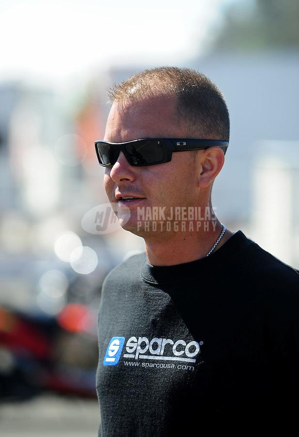 Jul. 18, 2010; Sonoma, CA, USA; NHRA top fuel dragster driver Steve Torrence during the Fram Autolite Nationals at Infineon Raceway. Mandatory Credit: Mark J. Rebilas-