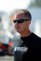 Jul. 18, 2010; Sonoma, CA, USA; NHRA top fuel dragster driver Steve Torrence during the Fram Autolite Nationals at Infineon Raceway. Mandatory Credit: Mark J. Rebilas-