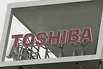 A signboard of Toshiba Corp. on display outside its headquarters on August 10, 2017, Tokyo, Japan. Tsunakawa reported approximate 965.7 billion yen ($8.8 billion)loss for itsFiscal Year 2016 to March 31, 2017. Toshiba avoided being delisted from Tokyo Stock Exchange by announcing its delayed financial results. (Photo by Rodrigo Reyes Marin/AFLO)