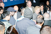 Democratic presidential candidate and former First Lady and Secretary of State Hillary Rodham Clinton greets people after speaking at the Women's Economic Opportunity Summit at Southern New Hampshire University in Hooksett, New Hampshire.