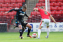 Jimmy Smith of Stevenage is tackled by Sam Mantom of Walsall<br />  - Walsall v Stevenage - Sky Bet League One - Banks's Stadium, Walsall - 19th October 2013. <br /> © Kevin Coleman 2013