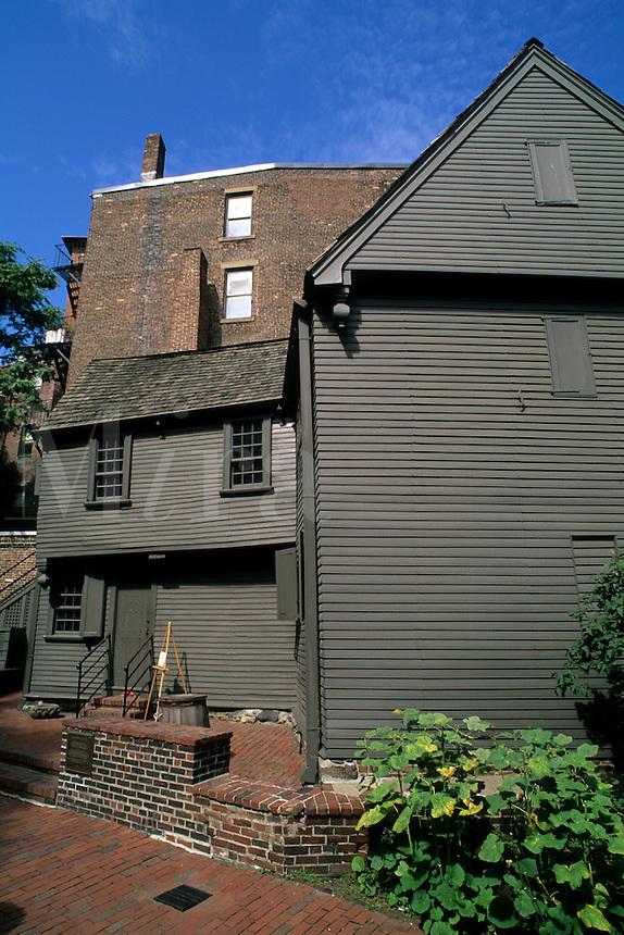 Boston Massachusetts MA USA Paul Revere Famous House 1770 restored in Boston.