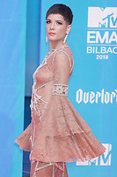 BILBAO, SPAIN-November 04: Halsey at the EMA 2018 at BEC (Bilbao Exhibition Center) in Bilbao, Spain on the 4 of November of 2018. November04, 2018.  ***NO SPAIN*** <br /> CAP/MPI/RJO<br /> &copy;RJO/MPI/Capital Pictures