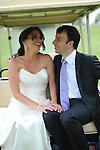 Bridal couple and wedding<br /> Garrison Golf Club,<br /> Hudson Valley, New York