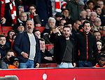 Arsenal's fans show their displeasure during the premier league match at the Emirates Stadium, London. Picture date 22nd December 2017. Picture credit should read: David Klein/Sportimage