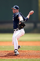 February 22, 2009:  Pitcher Matt McDonald (43) of the University of Connecticut during the Big East-Big Ten Challenge at Naimoli Complex in St. Petersburg, FL.  Photo by:  Mike Janes/Four Seam Images